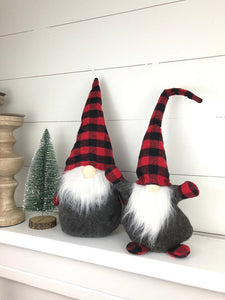 Large plaid gnome