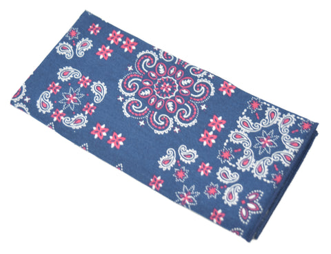 The Kingsman is a navy pocket square with red and white accents.