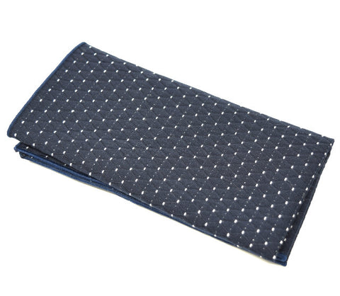 The Big Dipper is a navy pocket square with small white lines.