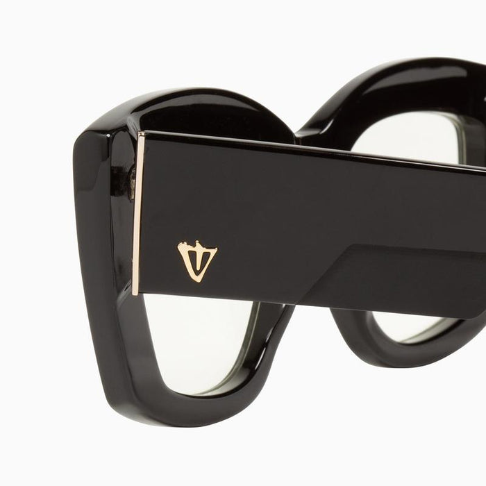 Valley Coltrane Gloss Black Gold Metal Trim blk Gradient lens