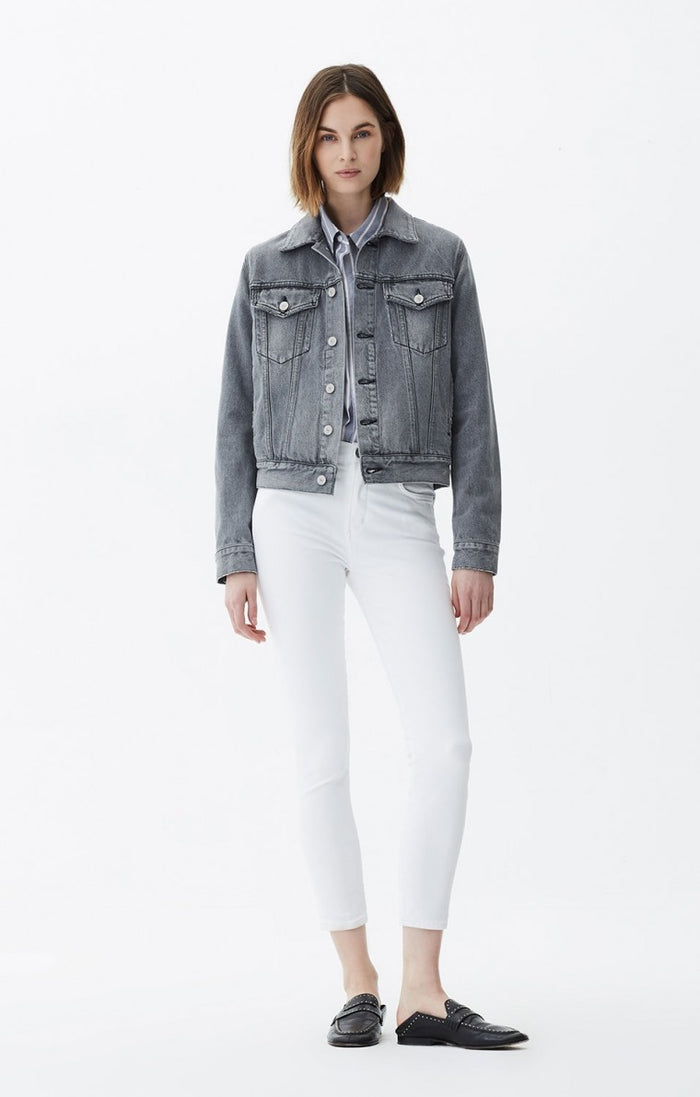Citizens of Humanity The Rocket Crop High Rise Skinny - Sculpt White