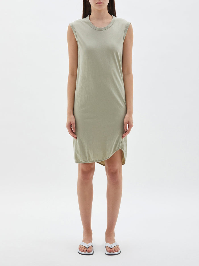 Bassike Fitted Muscle Tank Dress Sedative Sage