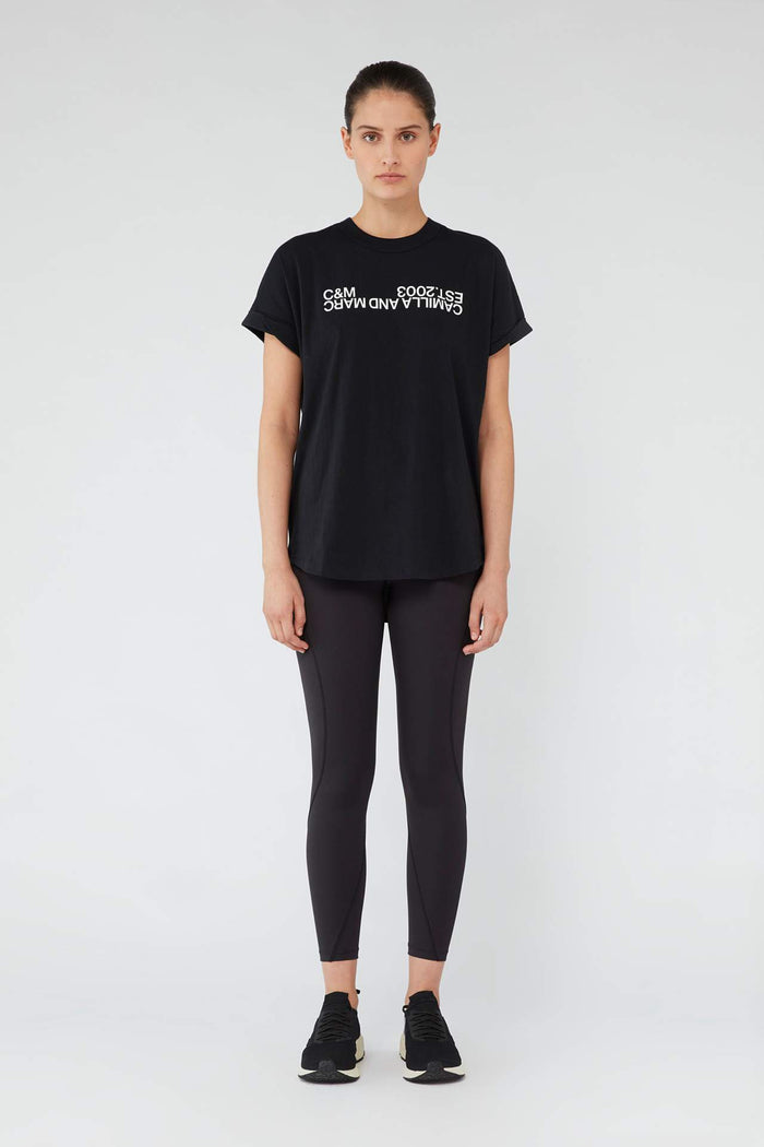 Camilla & Marc Huntington 2.0 Tee - Black W/ White