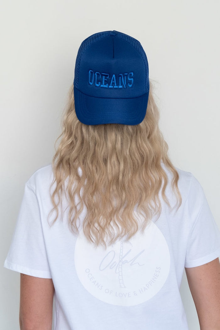 Oceans of Love & Happiness Cap - OCEANS (Forever Blue Embroidered)