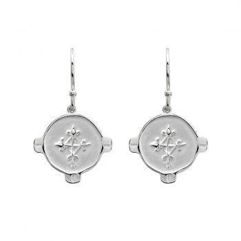 Murkani Hope Earrings with White Topaz Sterling Silver