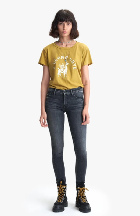 Mother The Boxy Goodie Goodie Tee - A Llama Love