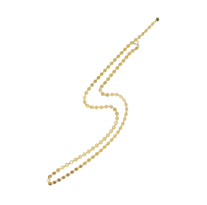 Misuzi Emery Disc Chain Necklace Gold