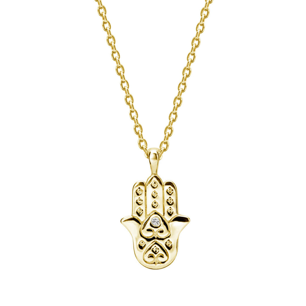 Murkani Freedom Hamsa Hand Necklace Gold