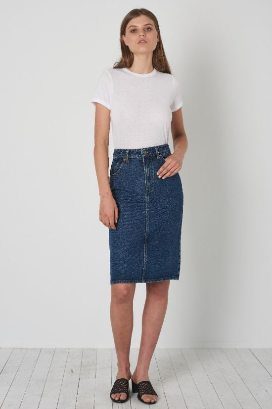 Rolla's High Pencil Skirt - Charlene Blue