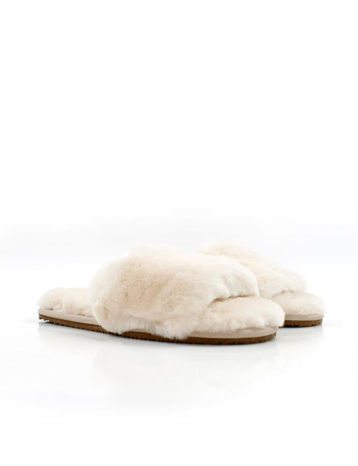 La Tribe Sheepy Slipper Ivory