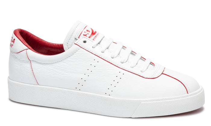 Superga 2869 Club S Comfleau Painted Edge White Red Flame