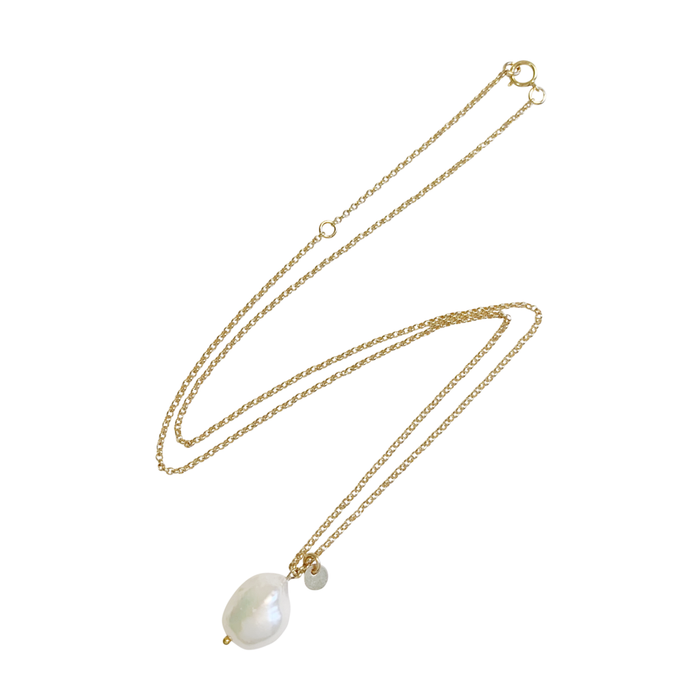 Misuzi Tess Baroque Pearl Necklace - Gold