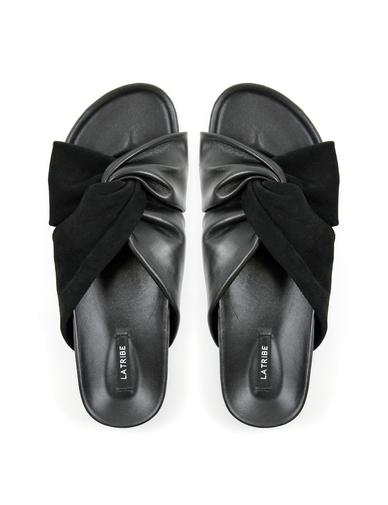 La Tribe Twisted Moulded Slide Black