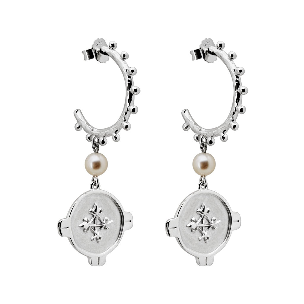 Murkani Brave Earrings with Pearl Sterling Silver
