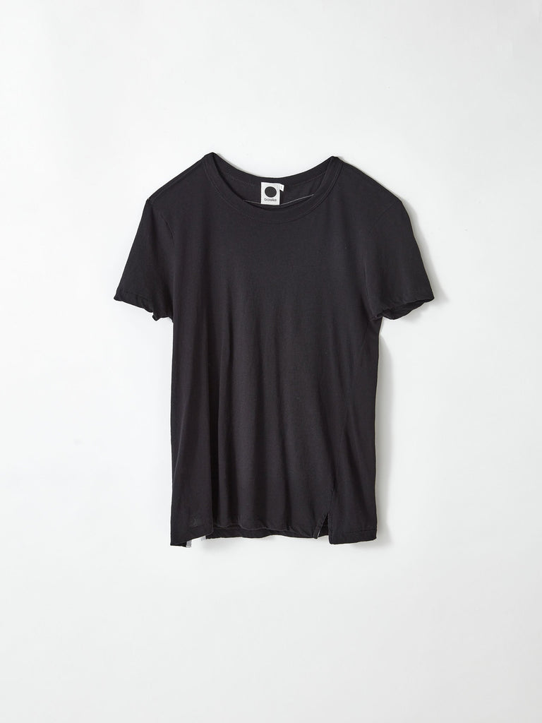 Bassike Slim Fit Hertiage s/s Tee - Deep Ink
