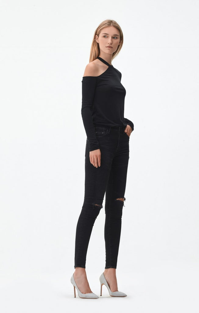 Citizens of Humanity The Rocket High Rise Skinny - Sculpt Distressed Darkness
