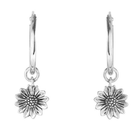 Midsummer Star Delicate Sunflower Silver Sleepers