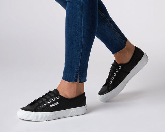 Superga Cotu Leather Black