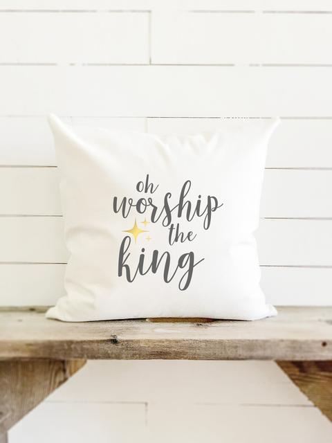 oh worship the king canvas pillow