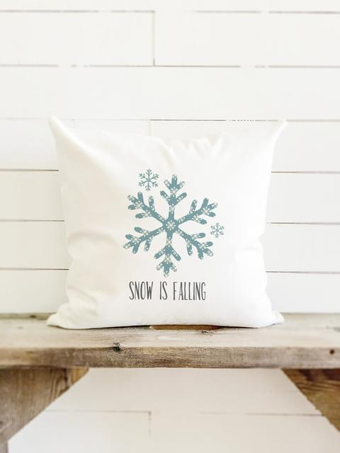 snow is falling canvas pillow