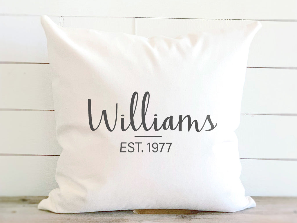 Personalized Established Date Pillow