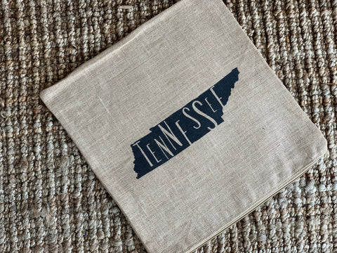 Tennessee State Silhouette Linen Tea Towel