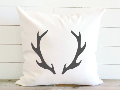 Farmhouse Antler Canvas Pillow