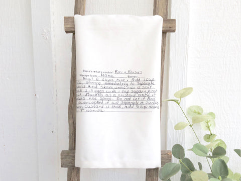 Family Heirloom Recipe Tea Towel