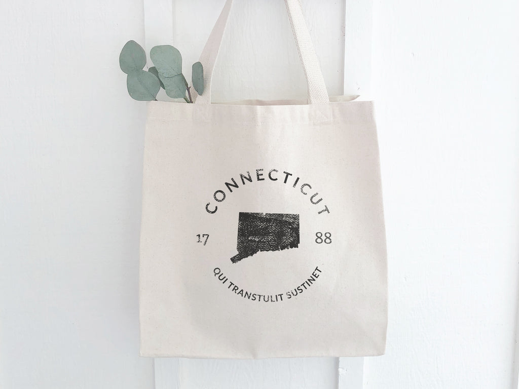Connecticut State Badge Canvas Tote Bag