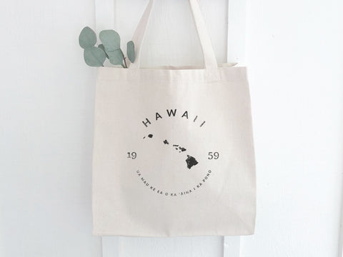 Hawaii State Badge Canvas Tote Bag
