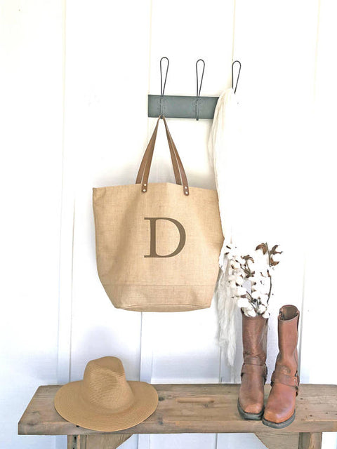 Monogrammed Weekender Tote Bag - Simple Font