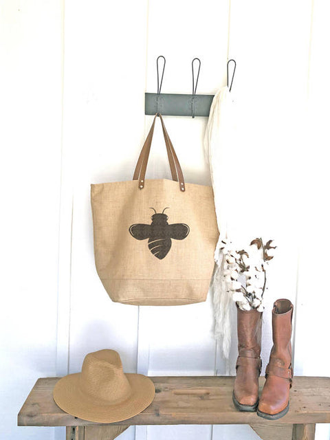 Tote Bag with Queen Bee Design