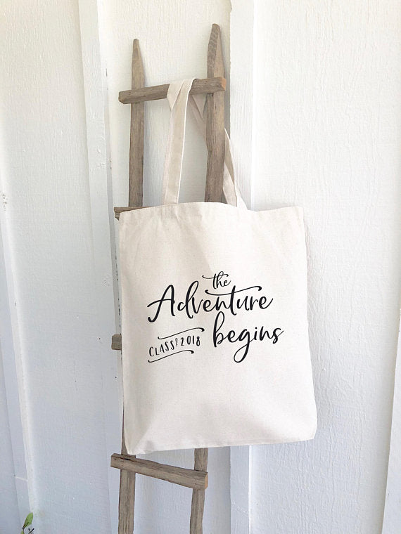 The Adventure Begins Canvas Tote Bag