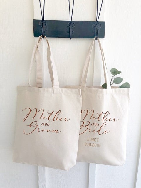 Mother of the Bride or Groom Personalized Canvas Tote Bag