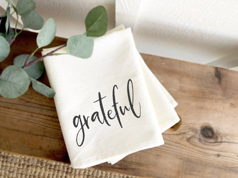 Grateful Farmhouse Tea Towel