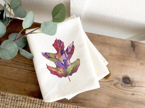 Fall Leaf Tea Towel
