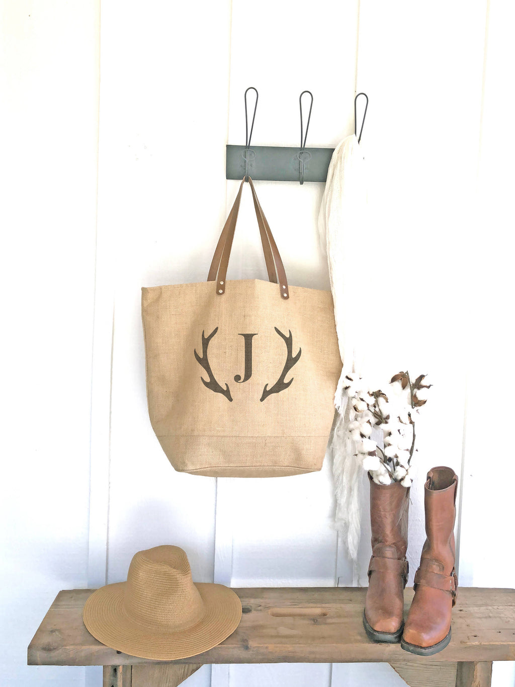 Bridesmaid Antler Tote Bag