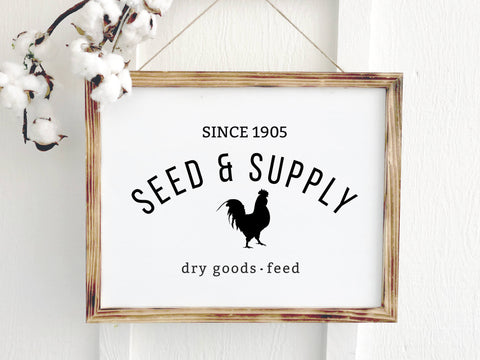 Seed & Supply Farmhouse Vintage Sign