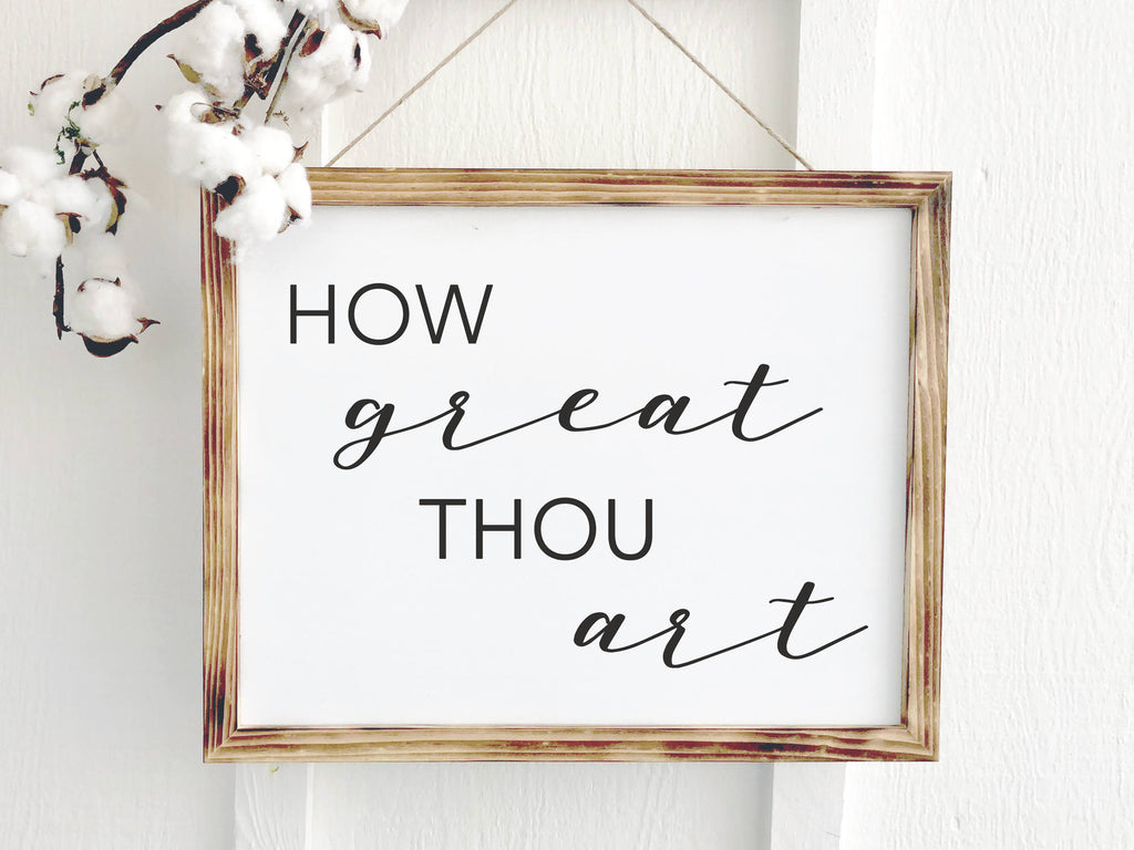 How Great Thou Art Song Hymn Sign