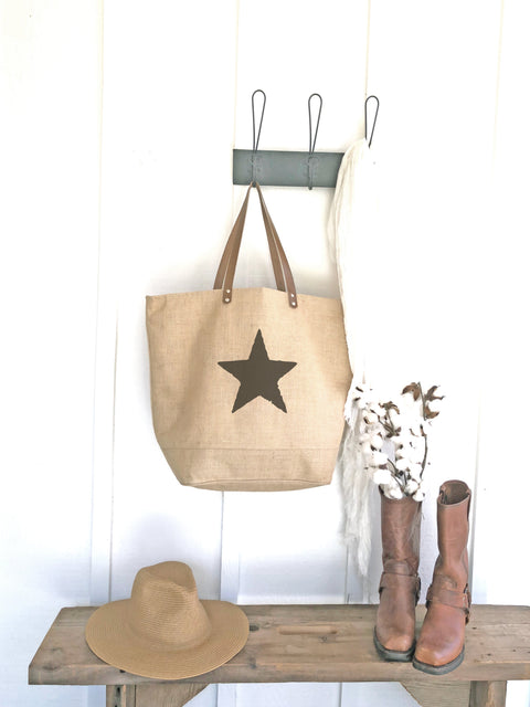 Star Print Tote Bag | Camera Bag  | Cute Laptop Bag | Large Laptop Bag for Her | Weekender Bag | Big Carry On Bag | Overnight Travel Bag