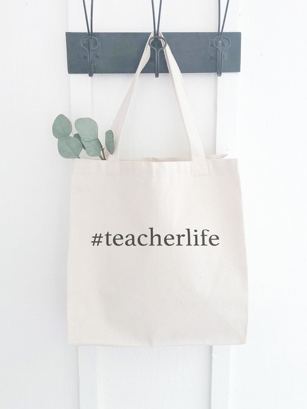 Teacher Life Canvas Bag, Reusable Shopping Tote, Teacher Graduation College Grad gift for her, Sturdy Durable Tote for Teacher Appreciation