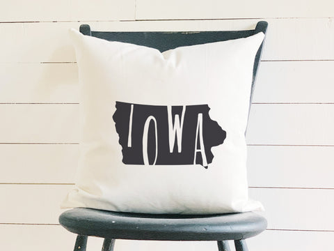 Iowa Home State Silhouette Throw Pillow