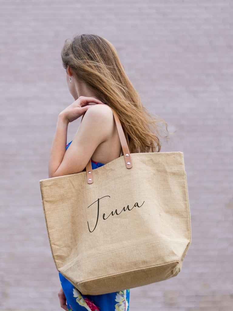Charlotte Font Personalized Tote Bag