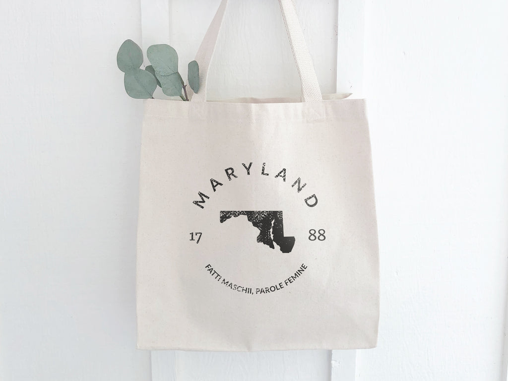Maryland State Canvas Tote Bag