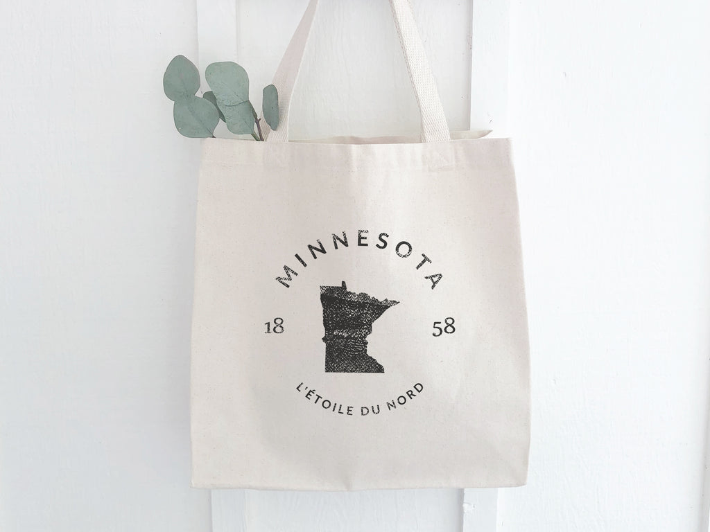 Minnesota State Canvas Tote Bag