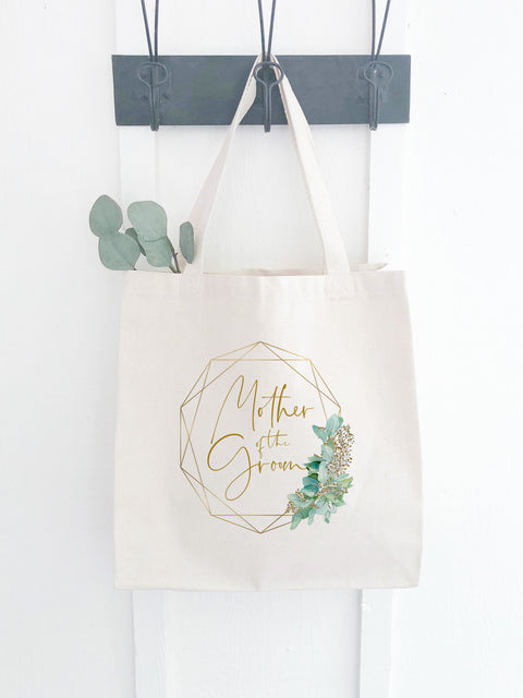 Canvas Mother of the Groom Bag with Eucalyptus Print
