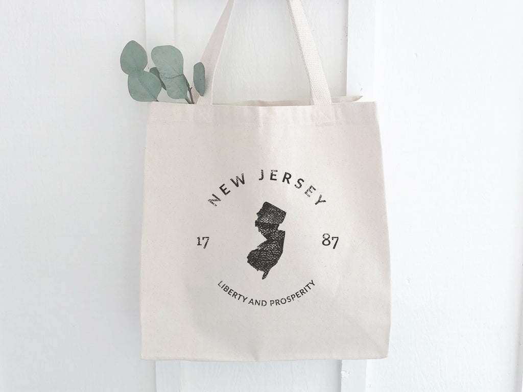 New Jersey State Canvas Tote Bag