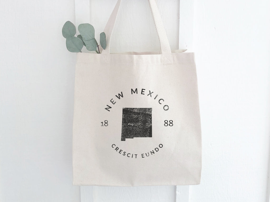 New Mexico State Badge Canvas Tote Bag