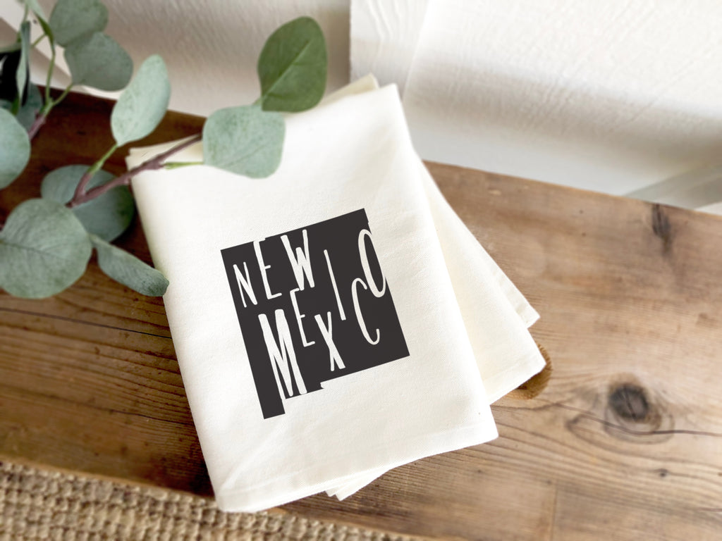 New Mexico State Silhouette Tea Towel