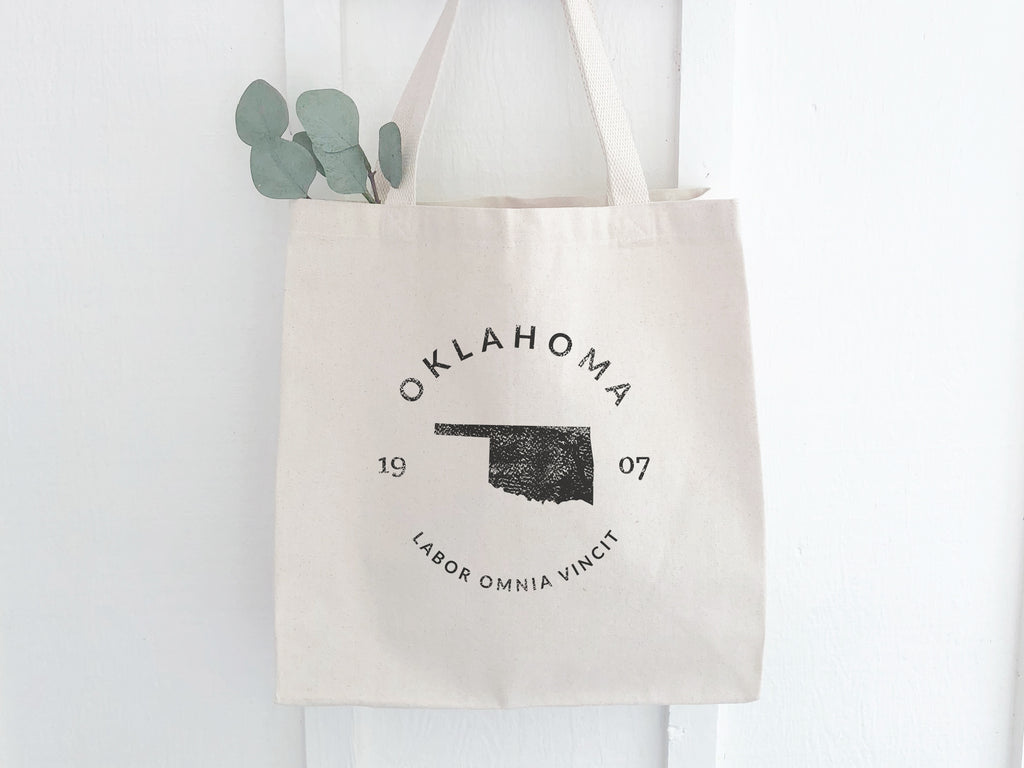Oklahoma State Badge Canvas Tote Bag